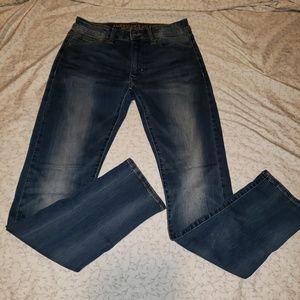 AEO   men's slim extreme flex straight jeans